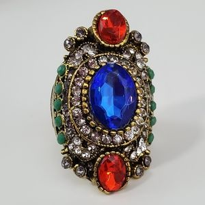 Large Bohemian Cocktail Ring Size 11